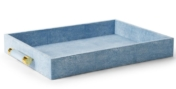 Aerin Classic Shagreen Serving Tray Blue