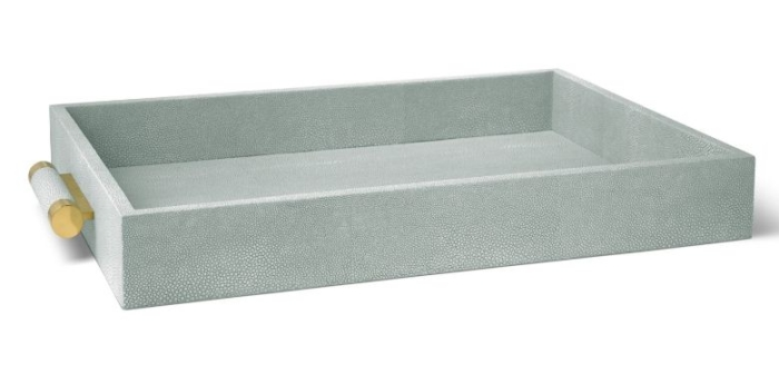 Aerin Classic Shagreen Serving Tray Mist