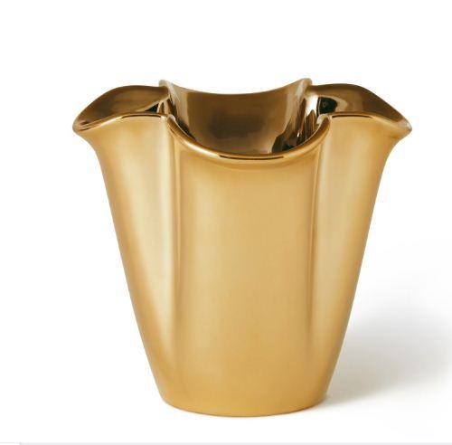 Aerin Gilded Clover Small Vase