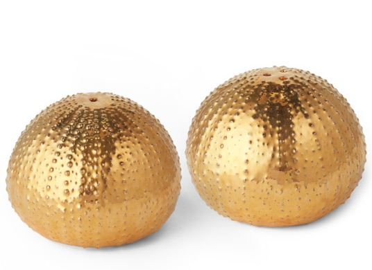 Aerin Gold Sea Urchin Salt and Pepper Shakers