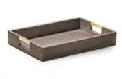 Aerin Modern Shagreen Desk Tray Chocolate