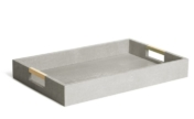 Aerin Modern Shagreen Desk Tray Dove