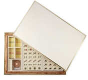 Aerin Shagreen Mahjong Set Cream