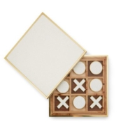 Aerin Shagreen Tic Tac Toe Set Cream