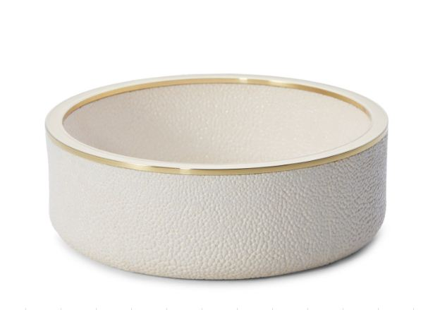 Aerin Shagreen Wine Coaster Cream