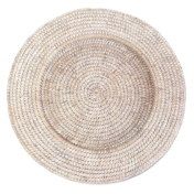 rattan charger plate whitewash