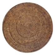 "15"" rattan round placemat"