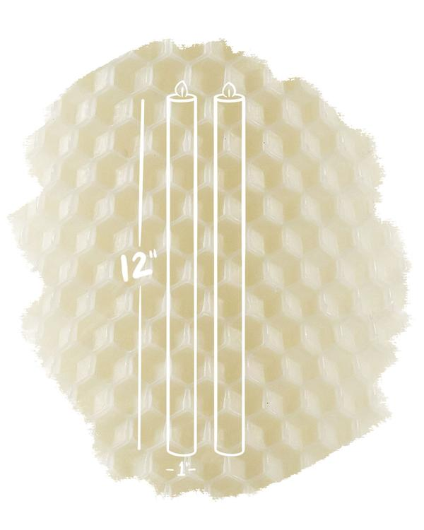 """Ivory 12"""" Tapers"""