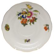 """Fruits & Flowers Tea Saucer  6""""D"""