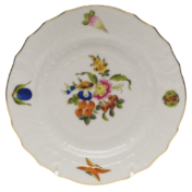 """Fruits & Flowers Bread & Butter Plate  6""""D"""