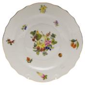 "Fruits & Flowers Salad Plate  7.5""D"