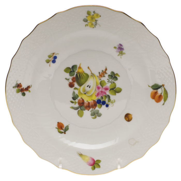 "Fruits & Flowers Salad Plate  7.5""D"