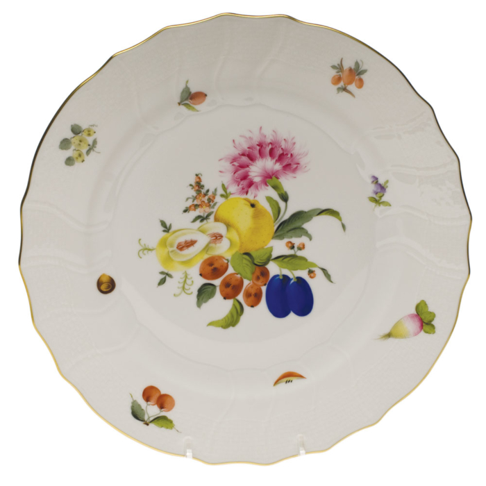 "Fruits & Flowers Dinner Plate  10.5""D"
