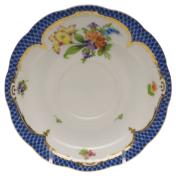 """Printemps With Blue Border Tea Saucer - Motif 05 6""""D"""