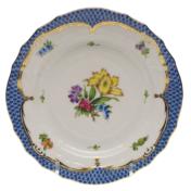 "Printemps With Blue Border Bread & Butter Plate - Motif 06 6""D"