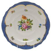 """Printemps With Blue Border Salad Plate - Motif 01 7.5""""D"""