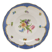 "Printemps With Blue Border Dessert Plate - Motif 03 8.25"""