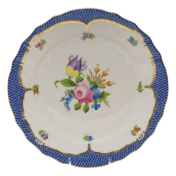"Printemps With Blue Border Dinner Plate - Motif 04 10.5"""