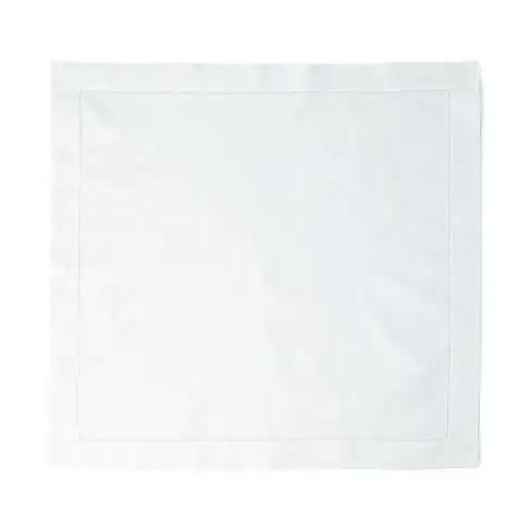 Boutro White dinner napkin set of 4 white hemstitch