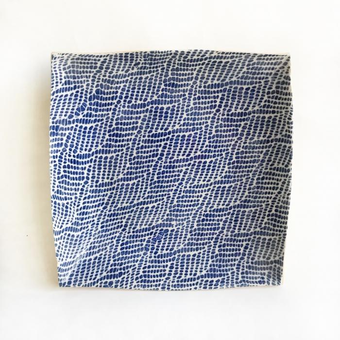 """11"""" Square Tray Braid Cobalt"""
