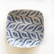 Sm square bowl paisley cobalt