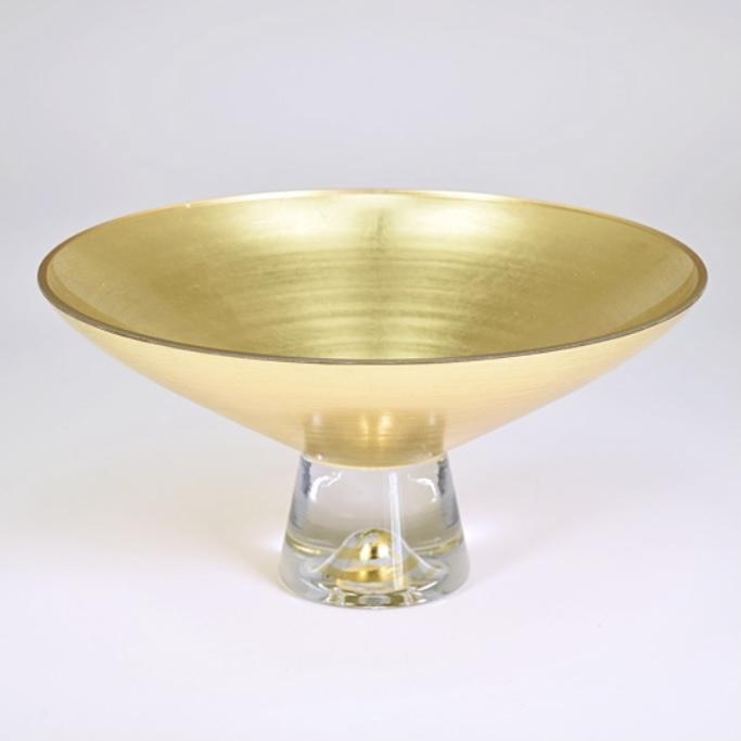 """9"""" Pedestal bowl solid gold"""