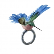 Adorable hummingbird napkin ring