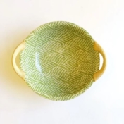 "13"" Round Dish with Handles Braid Citrus"