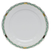 Chinese Bouquet Garland Dinner Plate Green Herend