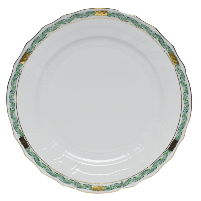 Chinese Bouquet Garland Dinner Plate Green Herend