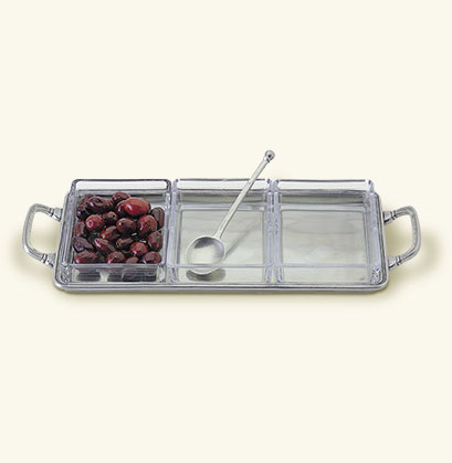 Match Crudité Tray with Handles