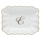 E Oblong Monogram Dish