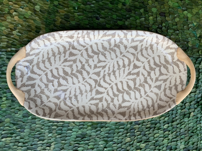 18x9 oval with Handles Fern Mocha