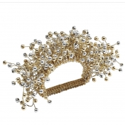 Spray Napkin Ring Gold and Silver