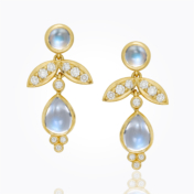 Temple St. Clair Blue Moonstone Earrings