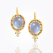 Blue Moonstone Earrings by Temple St. Clair