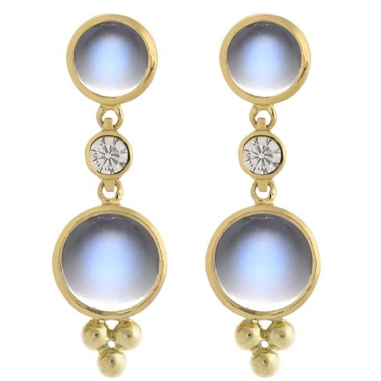 Blue Moonstone Earring