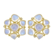 Cluster Blue Moonstone Earring
