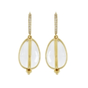 Temple St. Clair Amulet Earring with diamond pave