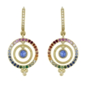 Celestial Mixed Sapphire Earring