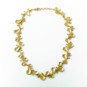 Matte Gold and Diamond Necklace
