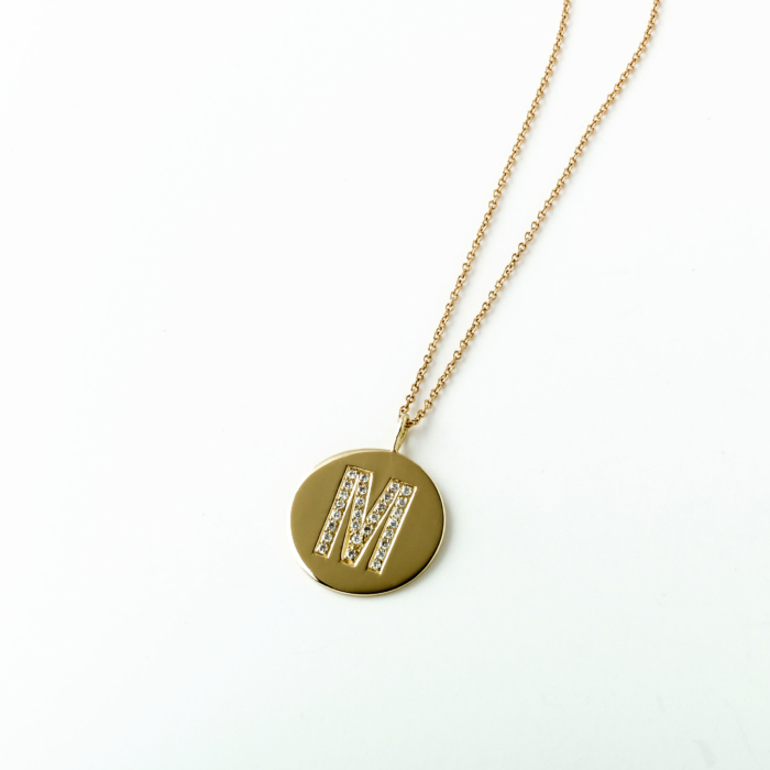 Diamond and Gold Initial Pendant