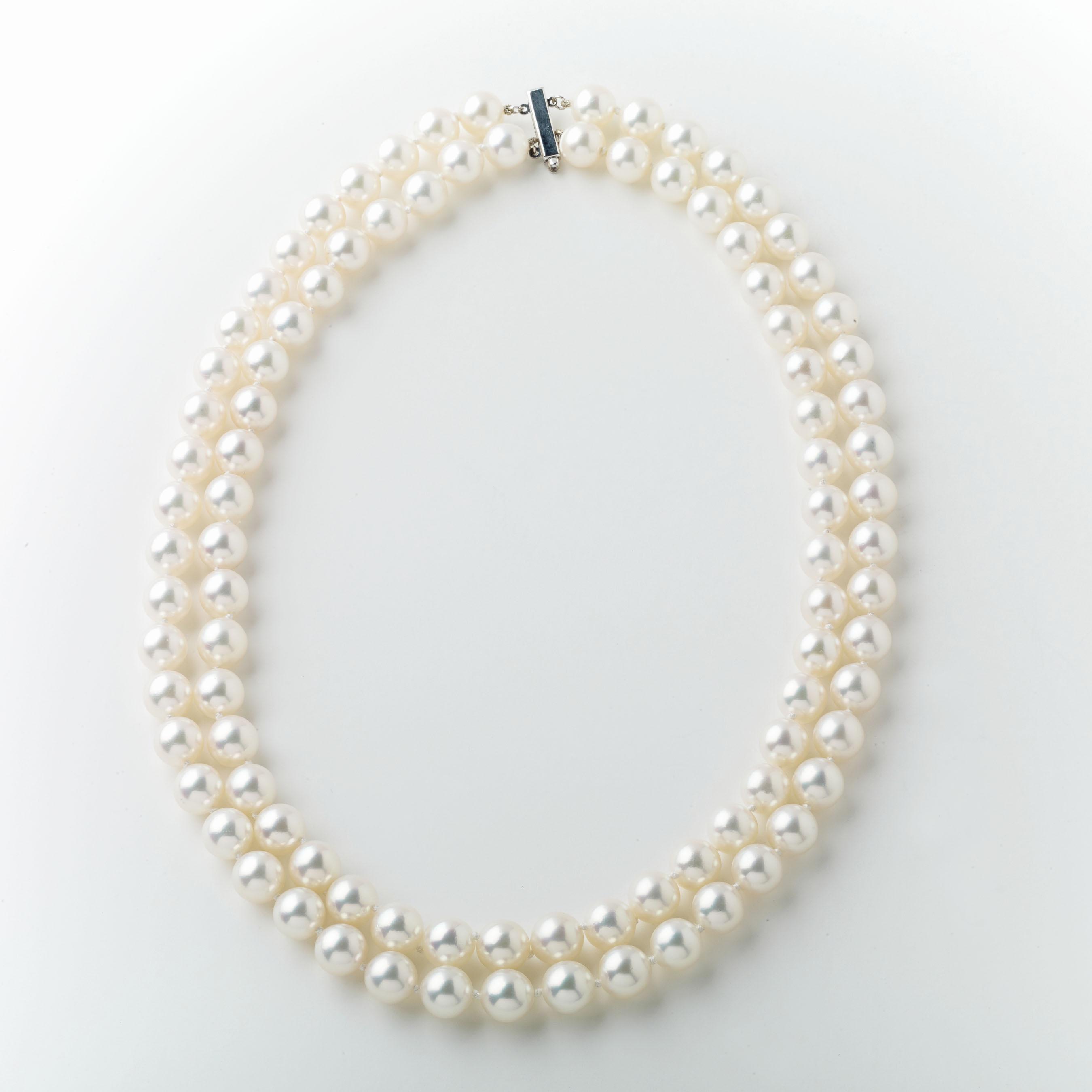 9d14676c7ab04f Double Strand Pearl Necklace - Elizabeth Bruns, Inc.