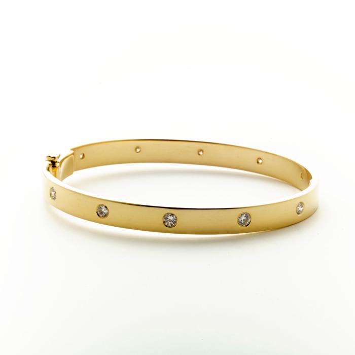 Gold & Diamond Eternity Bracelet