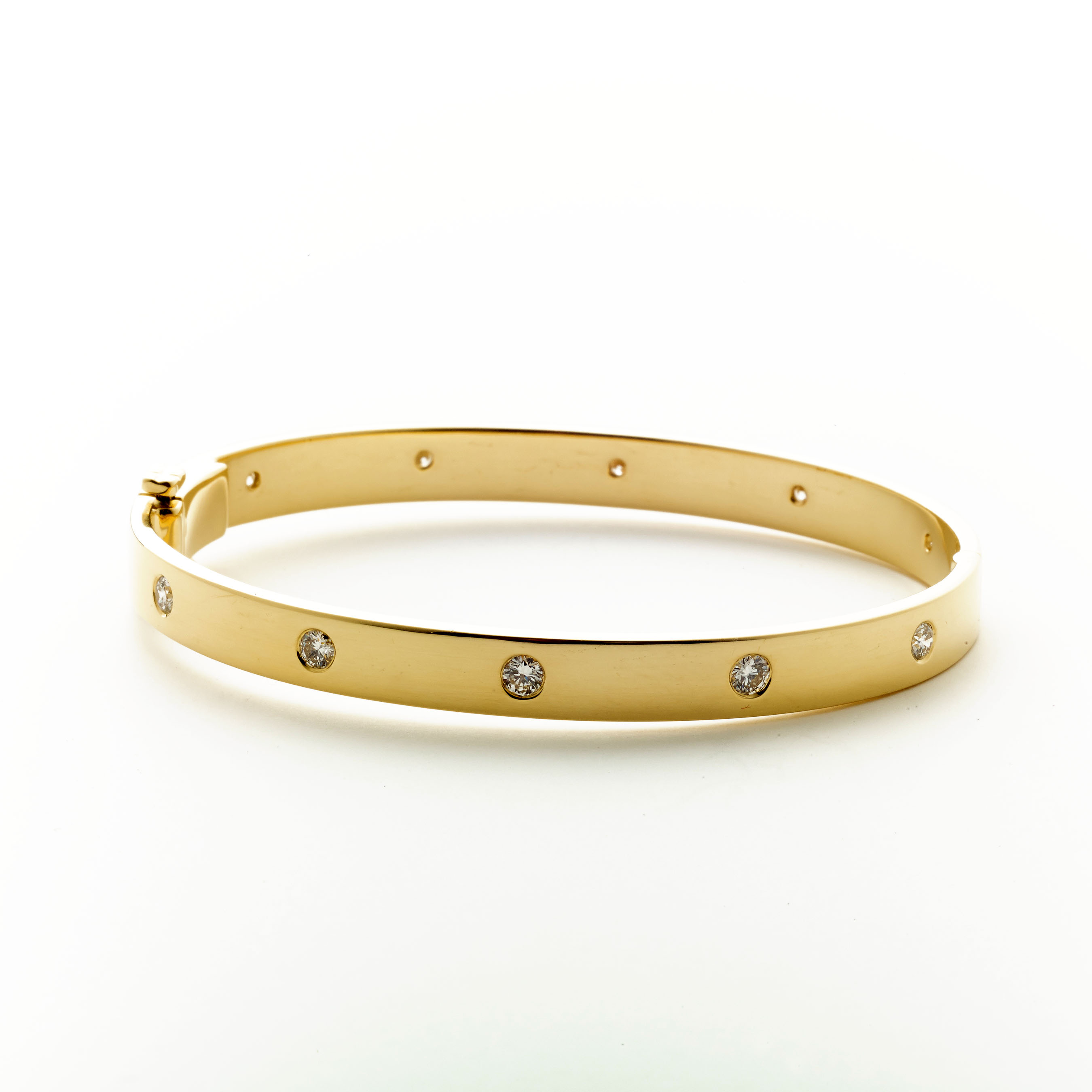 box bangles closure with gold bracelet accents clasp and pin diamond yellow bangle