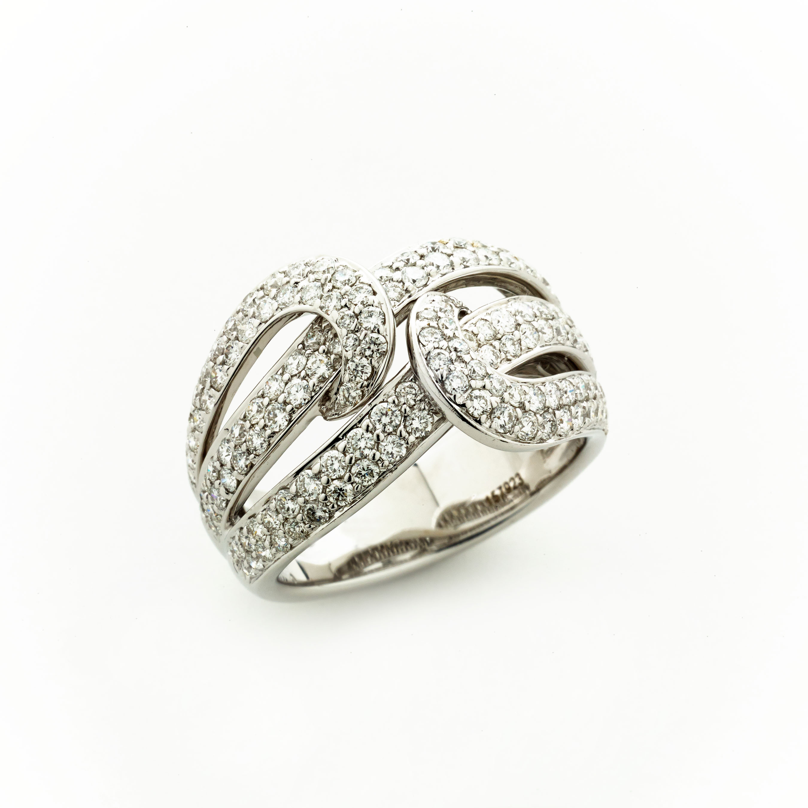 "Swirl"" Diamond Ring Elizabeth Bruns Inc"