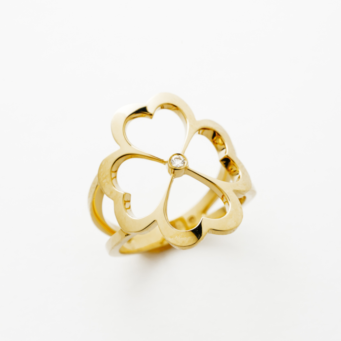 Gold Clover Ring