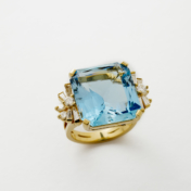 Estate Aquamarine Ring