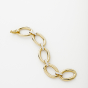 18kt Yellow gold and diamond bracelet
