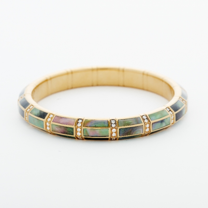 picchiotti dark mother of pearl expandable bracelet